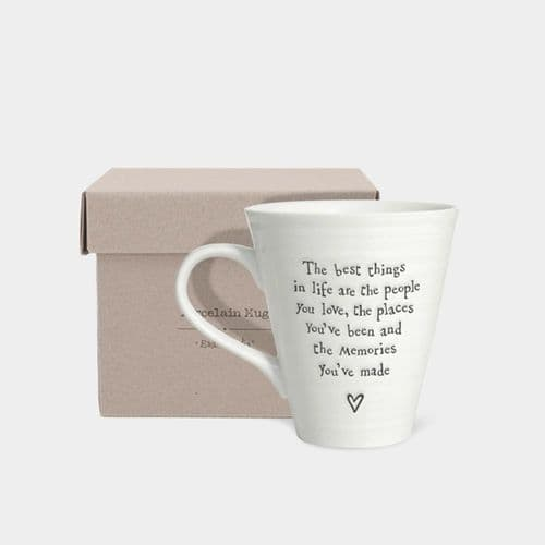 East of India Porcelain Keepsake Mug The best things in life are the people.