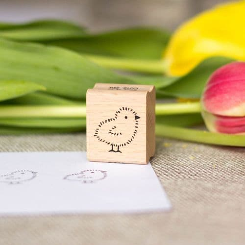 Easter Chick Wooden Rubber Ink Stamp