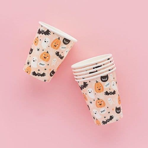 Halloween Characters Paper Party Cups x 10