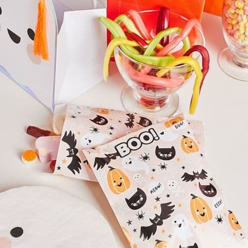 Halloween Characters Trick or Treat Paper Bags x 12