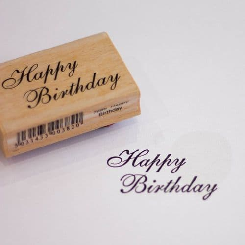 Happy Birthday Wood Mounted Rubber Craft Stamp