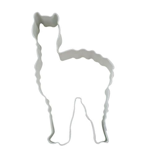Llama Shaped Cookie Cutter White Cake Decoration Poly-Resin Coated