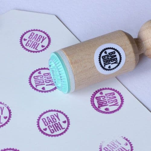 Mini Rubber Craft Stamp - Baby Girl