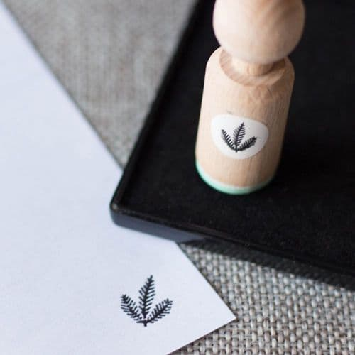 Mini Rubber Craft Stamp - Fir Leaves