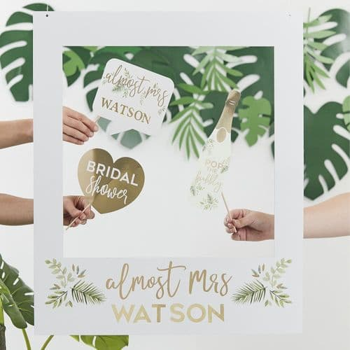 Personalised Hen Party Photo Booth Frame Botanical Party