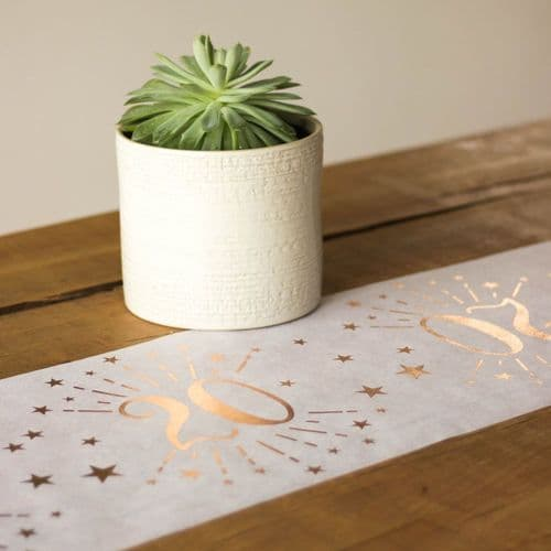 Rose Gold Age 20 Table Runner Decoration