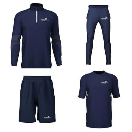 St Minver CC 1/4 Zip, Training Tee, Track B, Shorts Package