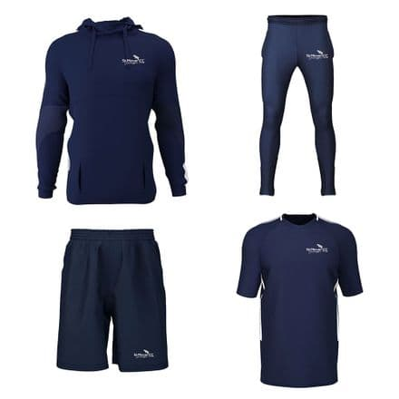 St Minver CC Hoodie, Training Tee, Track B, Shorts Package