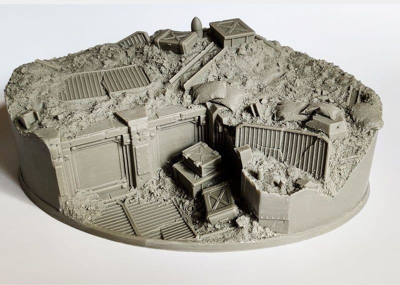 170x106mm Trench Warfare  Display Base (Made to Order)