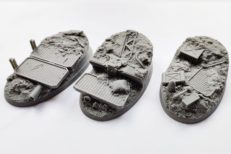 90mm Oval Trench Warfare Bases (3)