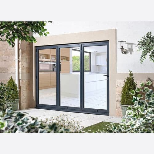 AluVu External 2095x2995mm 10ft Folding Sliding Patio Doors Right Opening
