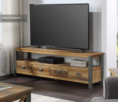 Baumhaus Urban Elegance Reclaimed Extra Large Widescreen TV unit