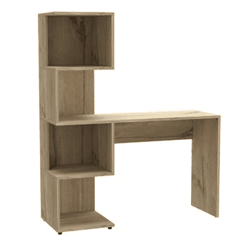 Brooklyn Desk With Tall Shelving Unit (Left Side)