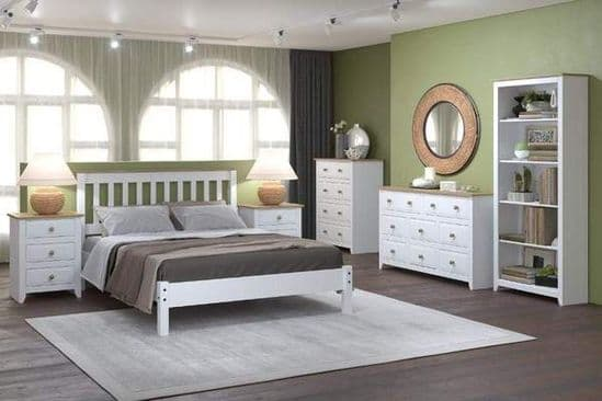 Core Products Capri Waxed Pine & White Bedroom Furniture