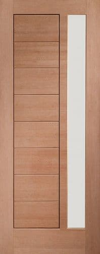 External Modena Hardwood Double Glazed Door With Obscure Glass 78x33