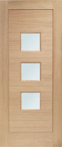 External Oak Turin Pre-Finished Glazed Door With Obscure Glass