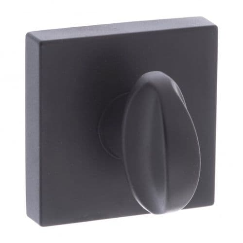 Forme WC Turn And Release On Square Rose In Matt Black