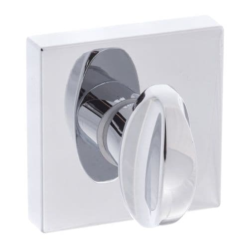 Forme WC Turn And Release On Square Rose In Polished Chrome
