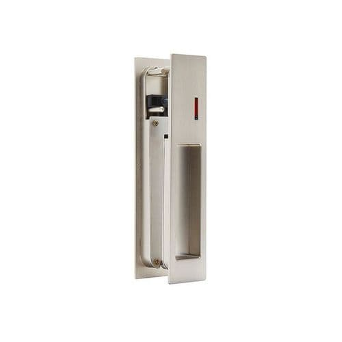 Gemini Satin Chrome Ironmongery Pocket Door Privacy Lock