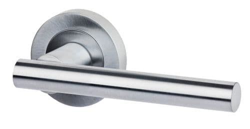 Hyperion Lever On Rose Satin Chrome Door Handle Pack