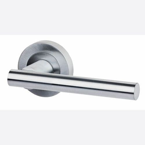 Hyperion Satin Chrome Door Handle Privacy Pack