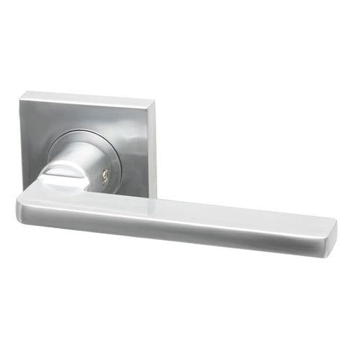 Intelligent Hardware Gemini Lever in Chrome Plated on Square Rose