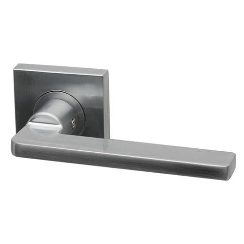Intelligent Hardware Gemini Lever in Satin Chrome Plated on Square Rose