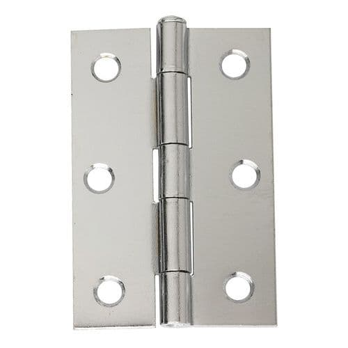 Intelligent Hardware Loose Pin Steel Butt Hinge in Chrome Plated - 75mm x 49mm