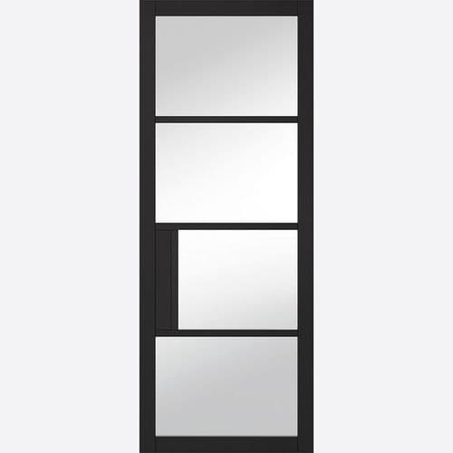Internal Black Chelsea Glazed Door With Clear Glass