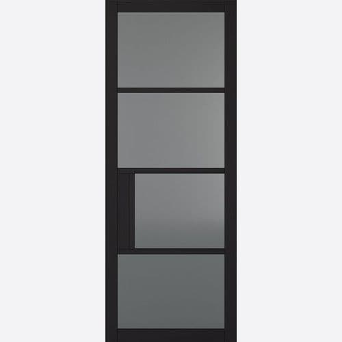 Internal Black Chelsea Glazed Door With Tinted Glass