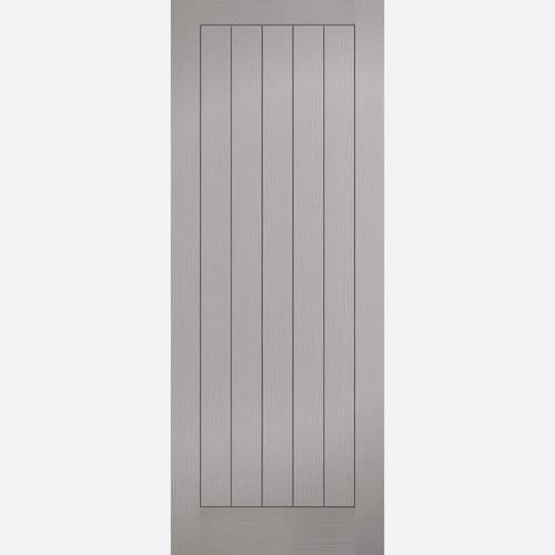 Internal Grey Moulded Textured Vertical 5 Panel Fire Door Mexicano Style