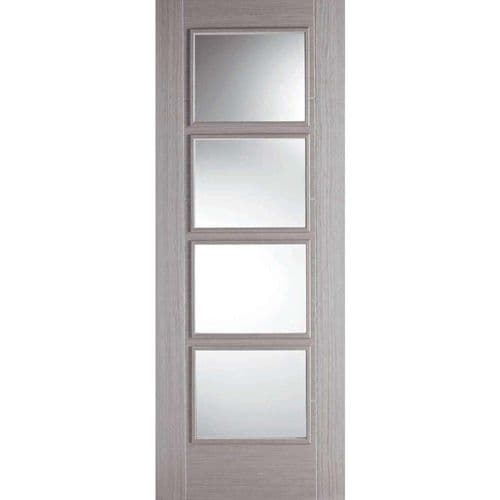 LPD Internal Grey Vancouver Half Hour Fire Rated Glazed Door | Fire Door With Glass