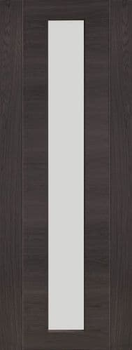 Internal Mode Umber Grey Laminate Forli Door With Clear Glass