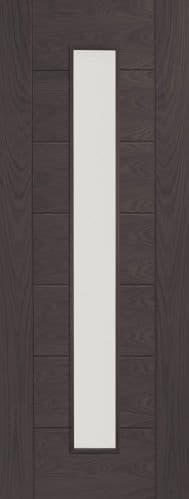 Internal Mode Umber Grey Laminate Palermo Door With Clear Glass