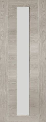 Internal Mode White Grey Laminate Forli Door With Clear Glass
