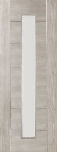 Internal Mode White Grey Laminate Palermo Door With Clear Glass