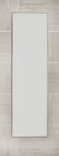 Internal Mode White Grey Laminate Ravenna Door With Clear Glass