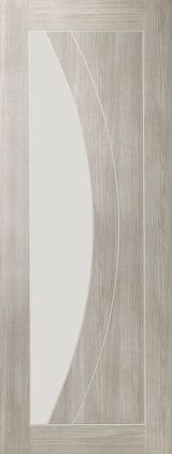 Internal Mode White Grey Laminate Salerno Door With Clear Glass