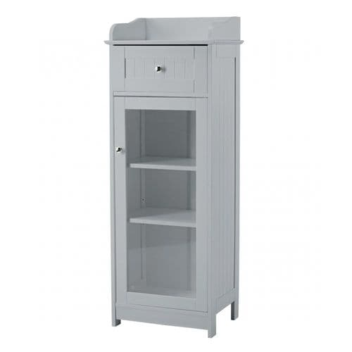 LPD Alaska Grey Glass Cabinet