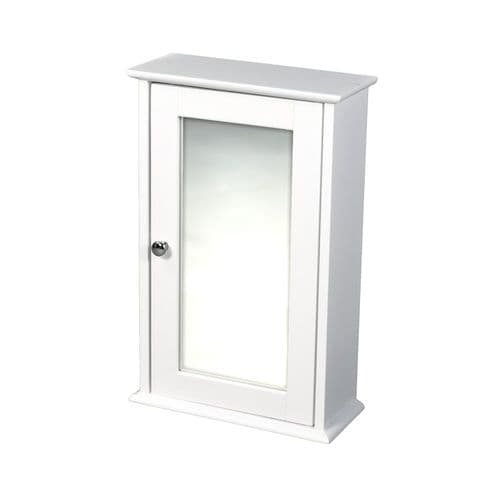 LPD Alaska White Wall Cabinet With Mirror