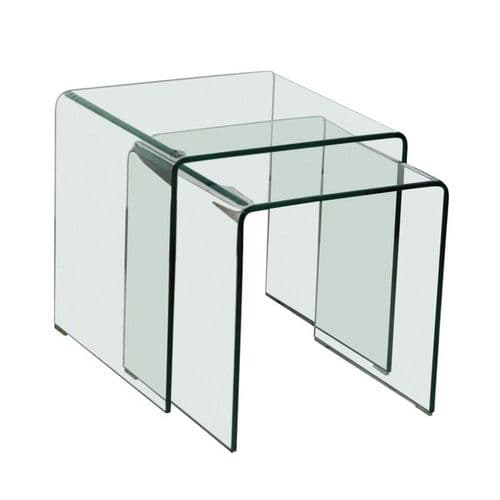 LPD Azurro Glass Nest Of 2 Tables