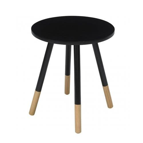 LPD Black Costa Side Table