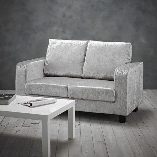 LPD Crushed Silver 2 Seater Sofa