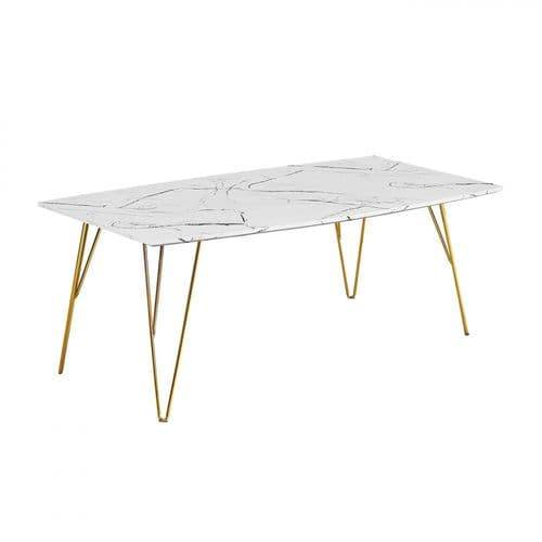 LPD Fusion White Marble Coffee Table