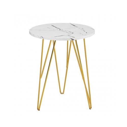 LPD Fusion White Marble Lamp Table