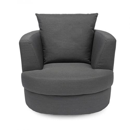 LPD Small Charcoal Grey Bliss Swivel Chair