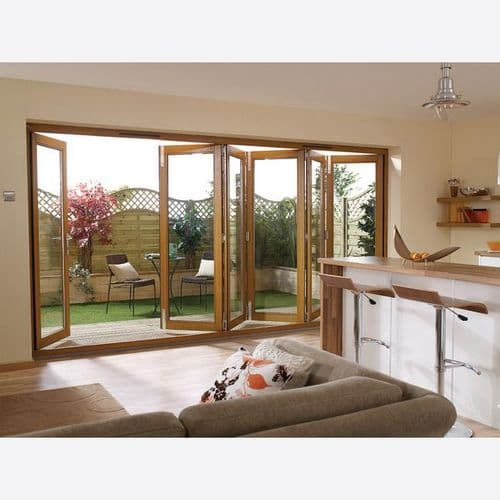 Nuvu External Folding Sliding Patio Door 2095 x 1795mm 6ft PreFinished