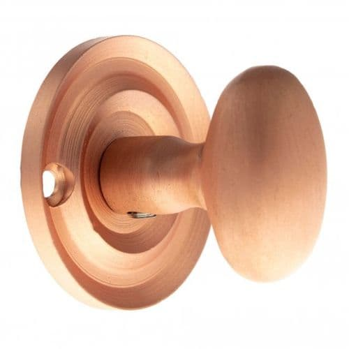 Old English WC Turn And Release Knob Style On Round Rose In Urban Satin Copper
