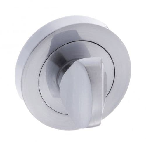 Status WC Turn And Release On Round Rose In Satin Chrome