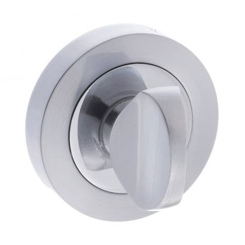 Status WC Turn And Release On Round Rose In Satin Chrome/Polished Chrome